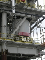 offshore production heater